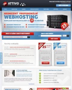 Hlavní stránka webhostingu Attivo