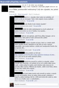 Komentáře zákazníků na Facebooku k výpadku webhostingu Attivo.