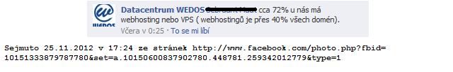 Wedos - statistika poctu domen, které mají hosting u nich