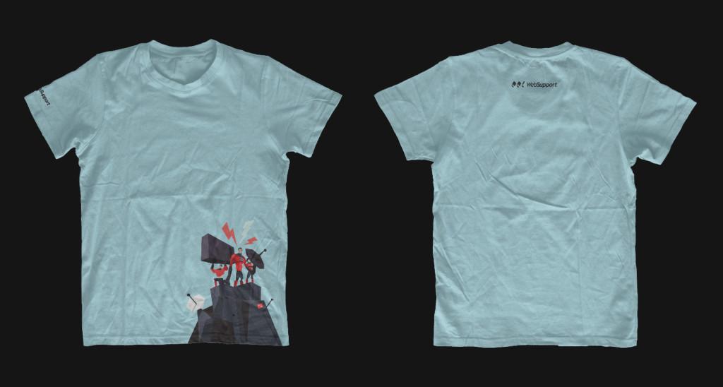 Nové tričko Websupport. Pro porovnání ze zadní a přední strany, ve větší velikosti.
